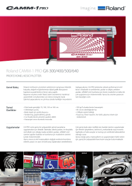 Roland CAMM-1 PRO GX-300/400/500/640