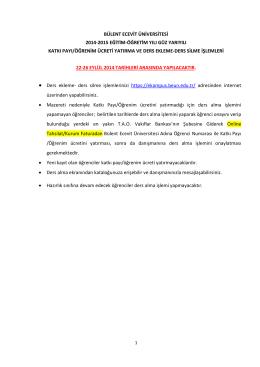 bülent ecevit üniversitesi 2014-2015 eğitim
