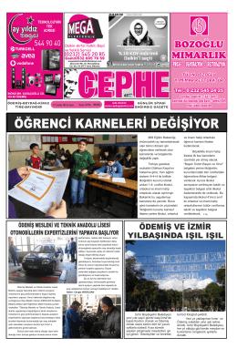 19.12.2014 Tarihli Cephe Gazetesi