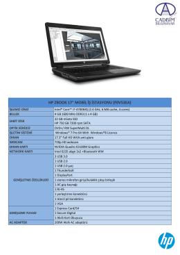 """HP ZBOOK 17"""" MOBİL İŞ İSTASYONU (F0V53EA)"""