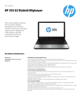 HP 355 G2 Dizüstü Bilgisayar