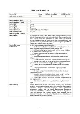 Adli Kolluk Hizmetleri - Jandarma Genel Komutanlığı