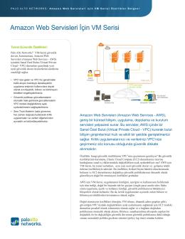 Amazon Web Servisleri İçin VM Serisi