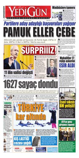 ESİR ALDI - Yedigün Gazetesi
