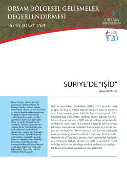 """SURİYE`DE """"IŞİD"""""""
