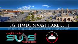 Eğitimde Sivasi Hareketi - Sivas İl Milli Eğitim Müdürlüğü