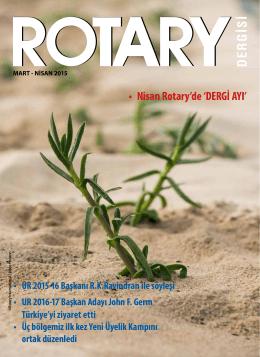 Rotary Dergisi Mart-Nisan 2015