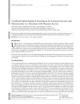 Combined Spinal Epidural Anaesthesia for