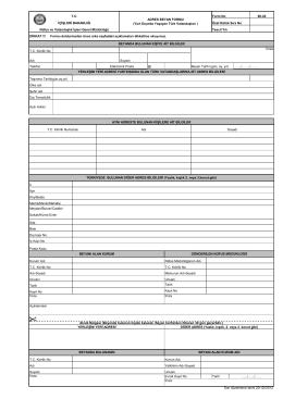 FORM B - Ön Sayfa - Nüfus ve Vatandaşlık İşleri Genel Müdürlüğü