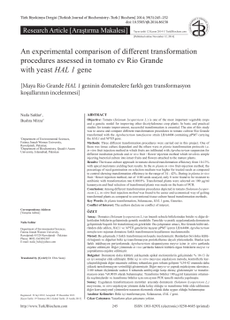 An experimental comparison of different transformation procedures