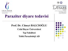 Paraziter diyare tedavisi, Cüneyt Balcıoğlu