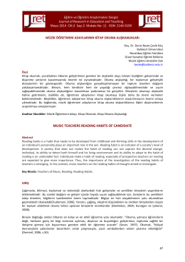 Makale - Eğitim ve Öğretim Araştırmaları Dergisi