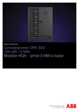 Conceptpower DPA 500 100 kW – 3 MW Modüler KGK - șimdi
