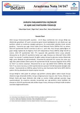 ArastirmaNotu167 - Betam - Bahçeşehir Üniversitesi