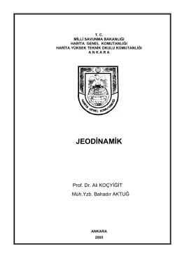 Jeodinamik - Milli Savunma Bakanlığı