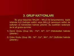 3. Grup Katyonları