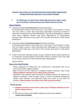 avrupa topluluğu (at) yüklenicileri için katma değer vergisi (kdv)