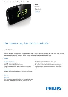 Product Leaflet: Büyük ekranlı Saatli Radyo