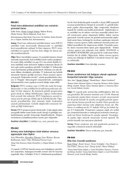 PDF Olarak İndir - Perinatal Dergi