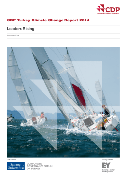 Leaders Rising CDP Turkey Climate Change Report 2014