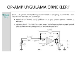 Karşılaştırıcı Op-Amp