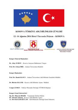 kosava azerbeycan türkiye adli bilimler günleri