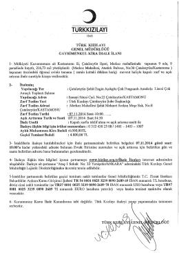 d türkkızılayı - Ankara Ticaret Odası