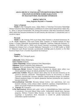 Adana Bilim ve Teknoloji Üniversitesi Rektörlüğü Strateji