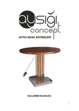 E-kullanım klavuzu - ayışığı concept ısıtıcı masa sistemleri imalatı