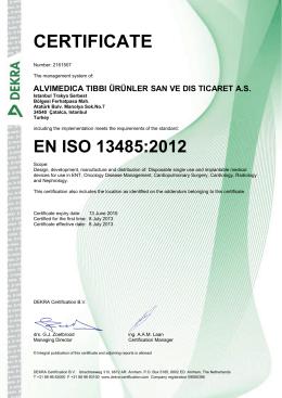 EN ISO 13485:2012