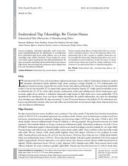 Endotrakeal Tüp Tıkanıklığı: Bir Üretim Hatası