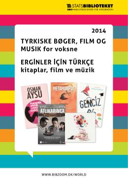 TYRKISKE BØGER, FILM OG MUSIK for voksne