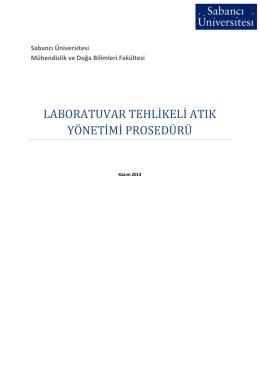 laboratuvar tehlikeli atık yönetimi prosedürü