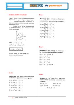 çemberin analitik incelenmesi ders-1-2-3-4-5-6-7-8-9-10-11-12-13