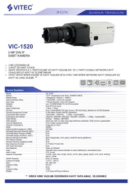VIC-1520 - Bilgi Elektronik