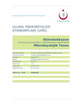 Ekinokokkoz - Türkiye Halk Sağlığı Kurumu