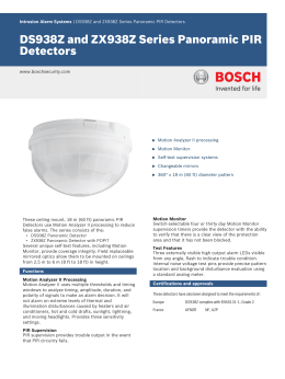 DS938Z and ZX938Z Series Panoramic PIR Detectors