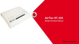 AirTies RT-103 Modem Kurulum Kılavuzu