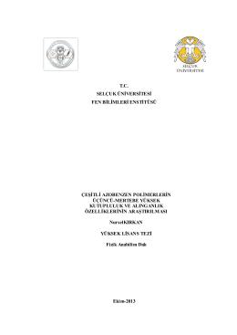 tc selçuk üniversitesi fen bilimleri enstitüsü çeşitli azobenzen