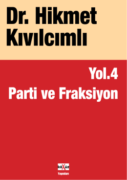 IV-parti ve fraksiyon2yeni.indd
