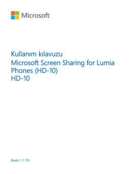 Microsoft Screen Sharing for Lumia Phones (HD-10