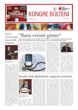 KONGRE BÜLTENİ - Türk Kardiyoloji Derneği