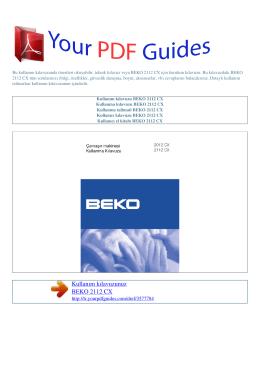 Kullanma talimati BEKO 2112 CX