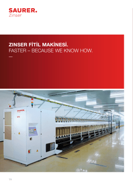 zınser fitil makinesi. faster – because we know how.