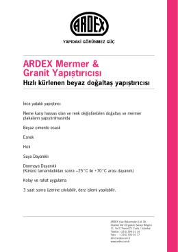 Teknik Föy - ARDEX Türkiye