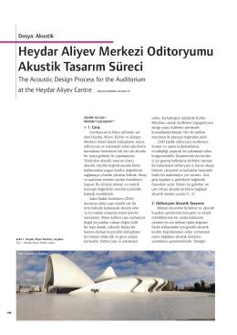Heydar Aliyev Merkezi Oditoryumu Akustik Tasarım