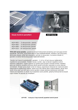 Geçiş kontrol panelleri ACP-Serisi RF