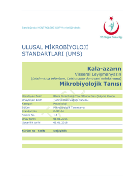 Kala azar - Türkiye Halk Sağlığı Kurumu