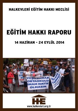 14 Haziran - 24 Eylul 2014