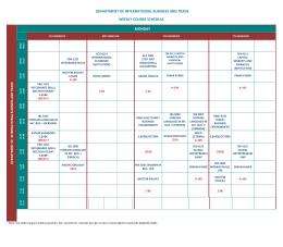 Uluslararası İşletmecilik ve Ticaret Bölümü Haftalık Ders Programı
